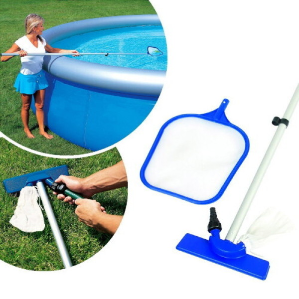 (AK몰)(베스트웨이)58013/수영장 바닦 청소도구 세트/폴대 뜰채 브러쉬세트 상품이미지
