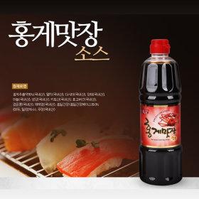 홍일식품 홍게맛장소스 500ml 천연조미료 프리미엄간장