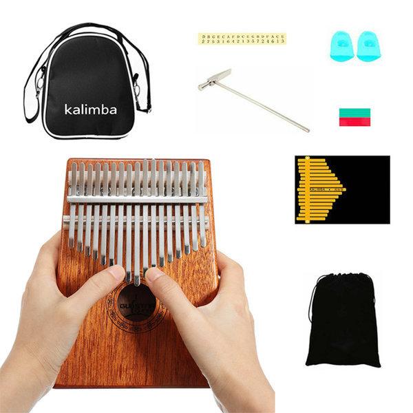칼림바 17음 마호가니 원목 엄지손가락 피아노 풀셋트 상품이미지