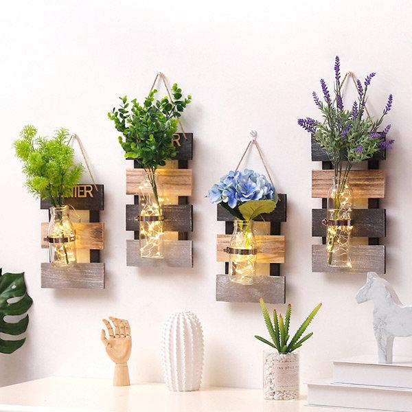 벽걸이화병 인테리어 벽장식 소품 LED 벽부착 꽃병 상품이미지