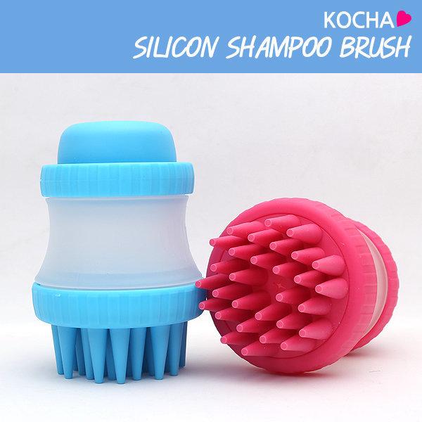 KOCHA 홍이네 반려동물 샴푸 브러쉬 목욕 마사지 /핑크 상품이미지