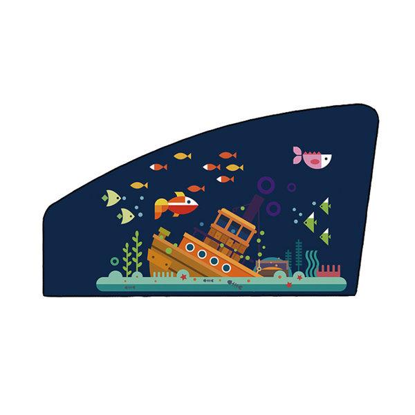 (보물선-보조석) 자석 차량용햇빛가리개/자동차커튼 상품이미지