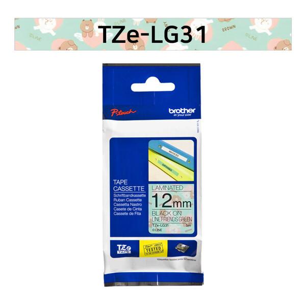 (현대Hmall) 부라더  라벨테이프 TZe-LG31(12mm x 5M) 캐릭터 라인브라운 상품이미지