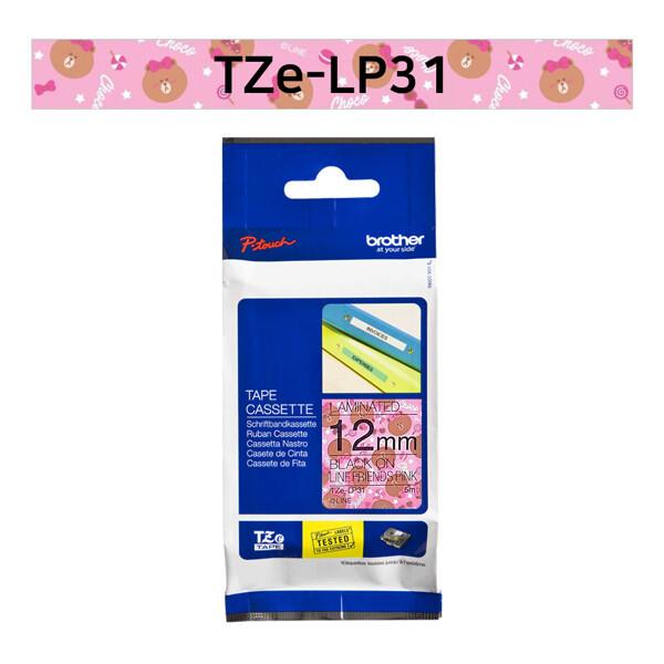 (현대Hmall) 부라더  라벨테이프 TZe-LP31(12mm x 5M) 캐릭터 라인핑크 상품이미지