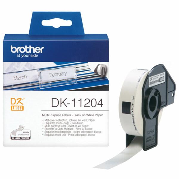 (현대Hmall) 부라더정품  라벨테이프 DK-11204 (17mm x 54mm 규격라벨 400개/롤) 상품이미지
