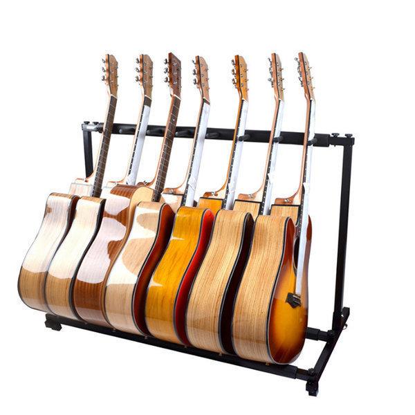 7단 기타스탠드 이동식 바퀴형 기타받침대 상품이미지