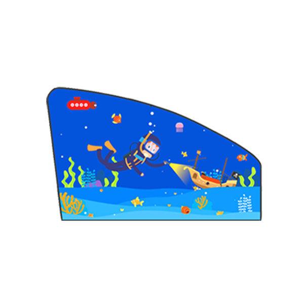 (해저탐사-운전석) 자석 차량용햇빛가리개/자동차커튼 상품이미지