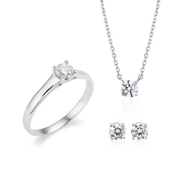 당일발송 예쁜 결혼예물 2부 천연 다이아몬드세트 상품이미지