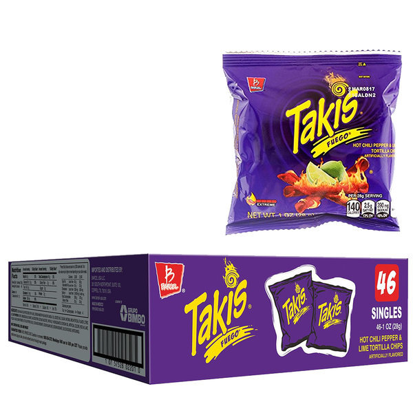 TAKIS 바르셀 타키스 푸에고 또띠아칩 스낵 28g 46팩 상품이미지