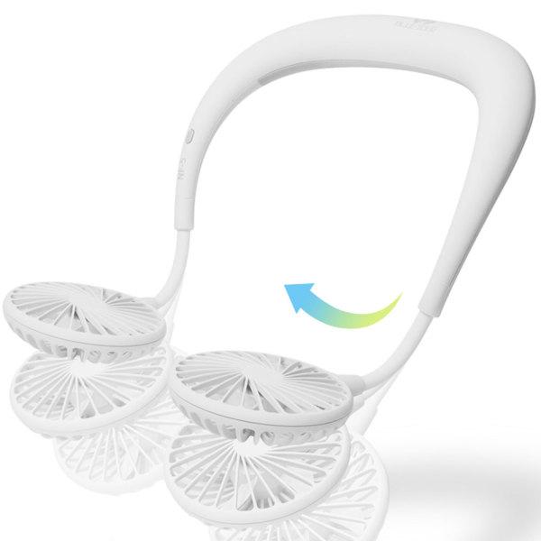 넥밴드 휴대용선풍기 목걸이 핸즈프리 BI-NF5 화이트 상품이미지
