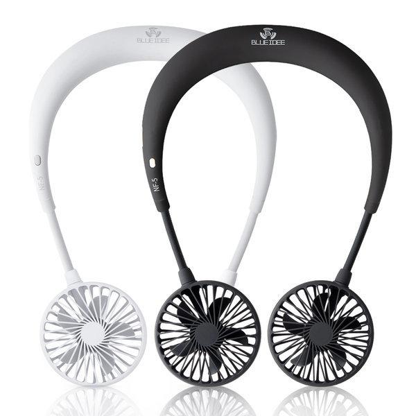 넥밴드 휴대용선풍기 목걸이 핸즈프리 BI-NF5 블랙 상품이미지