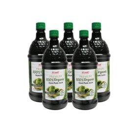 뉴질랜드 정품 프리미엄 100% 유기농 노니주스 1L 5병