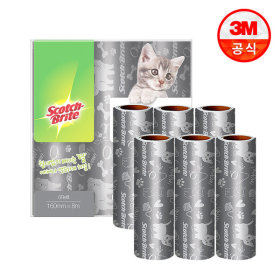 대형 클린컷 테이프클리너 고양이팩 대용량 리필 6입