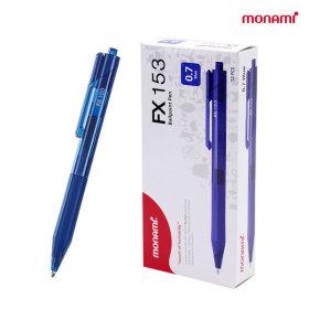모나미 FX153 저점도 볼펜 0.7mm (파랑) 1다스