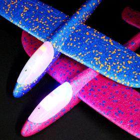 에어 글라이더 해드LED 비행기 (색상랜덤)