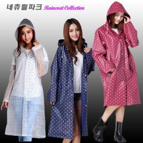 컬러 여성 레인코트 판초우의 우비 우의 비옷