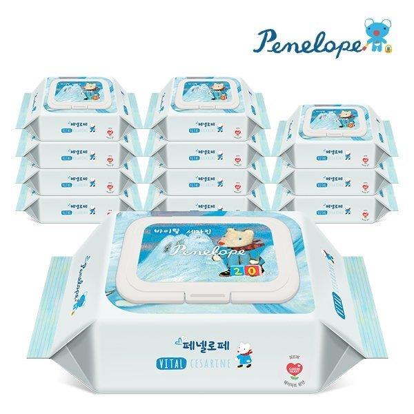 페넬로페 바이탈 플러스 세자린 휴대캡형 물티슈 20매 12팩 상품이미지