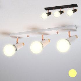 크로크 레일 직부등 3등 36W 전구색(노란빛) 램프포함