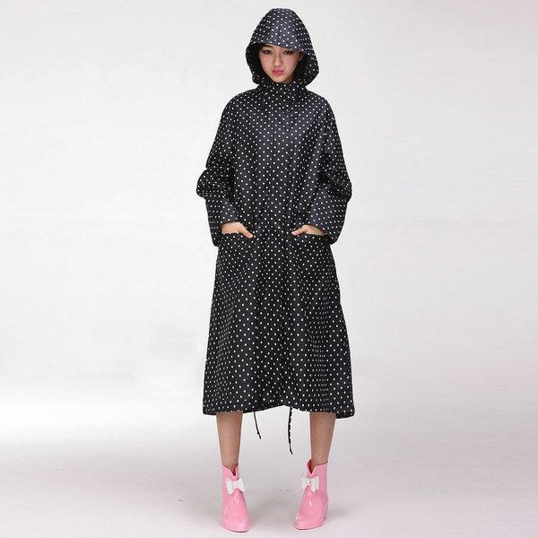 빅사이즈 블랙도트 N타입 여성레인코트 패션우비 비옷 상품이미지