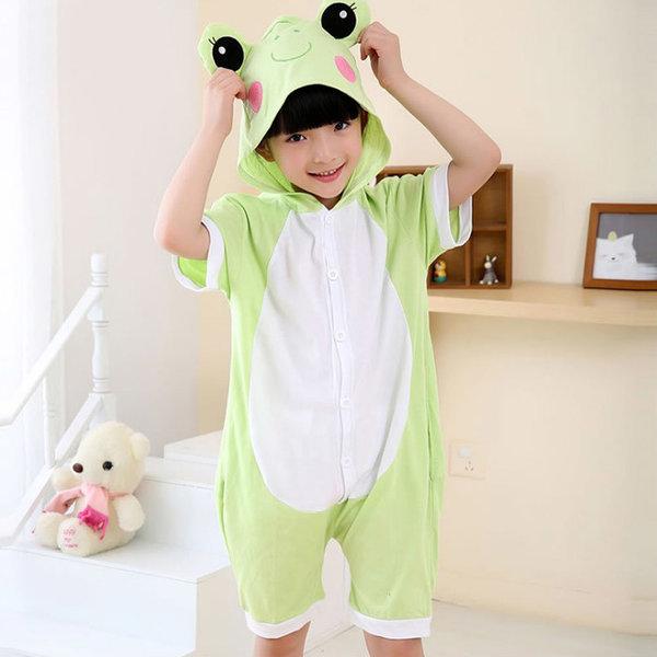 여름반티 캐릭터의상 어린이 동물잠옷 반팔잠옷 개구리 상품이미지