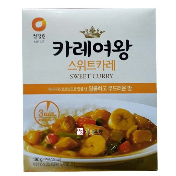 청정원/카레여왕ㅡ스위트카레 180g 상품이미지