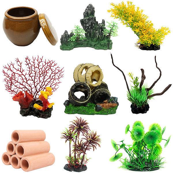 수족관장식모음/인조수초/조화/화산석/장식/토분/어항 상품이미지