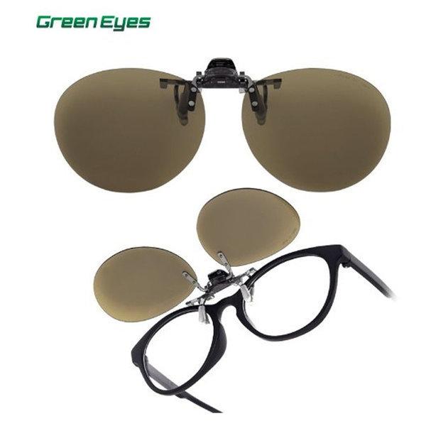 그린아이즈 클립온 CPR 브라운 편광렌즈 골프선글라스 상품이미지