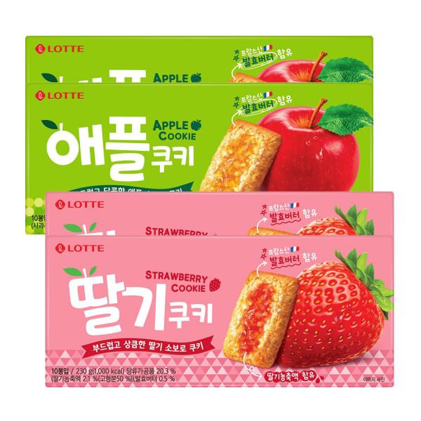 애플쿠키/딸기쿠키 230g 2+2개 (총 4상자) 상품이미지