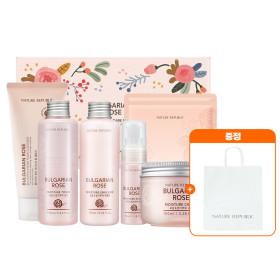 Nature Republic Bulgarian Rose Skin Care Special Set / Gift Set  + paper bag