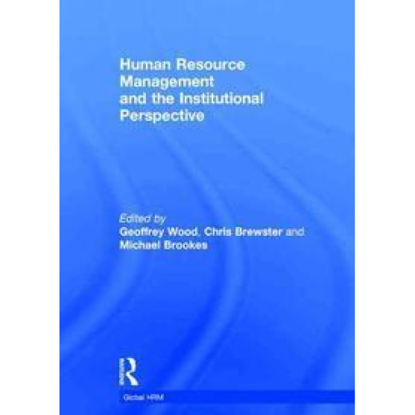 Human Resource Management and the Institutional Perspective 상품이미지