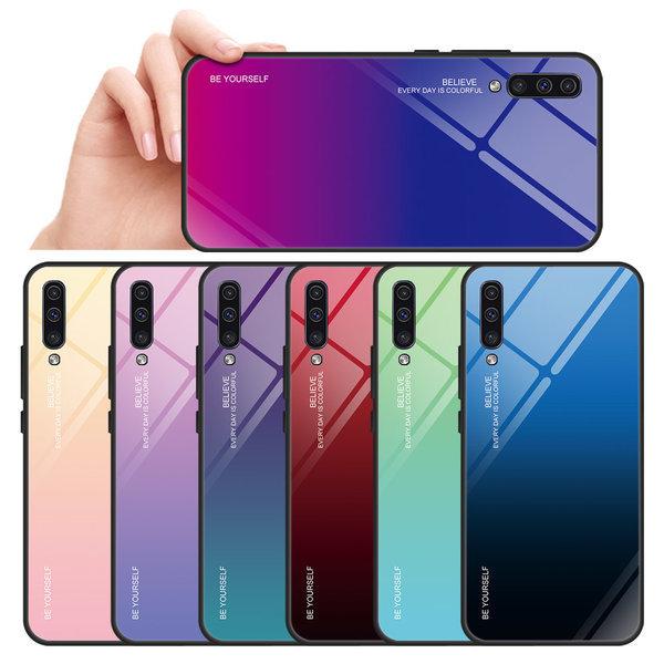 1+1 갤럭시 A50 강화유리케이스 핸드폰 하드범퍼슬림 상품이미지