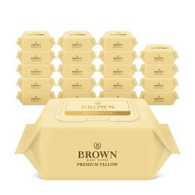 브라운 아기물티슈 프리미엄 20매 휴대캡 20팩