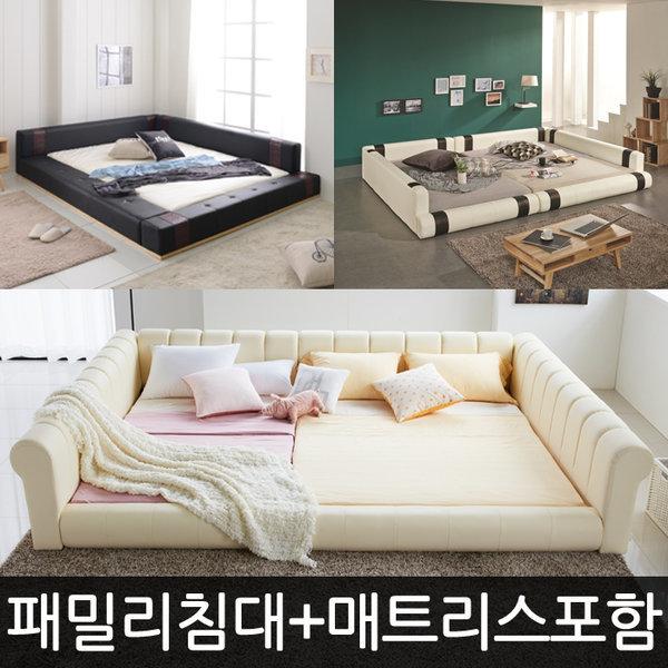 저상형 패밀리 침대/슈퍼싱글/퀸/프레임/매트리스 상품이미지