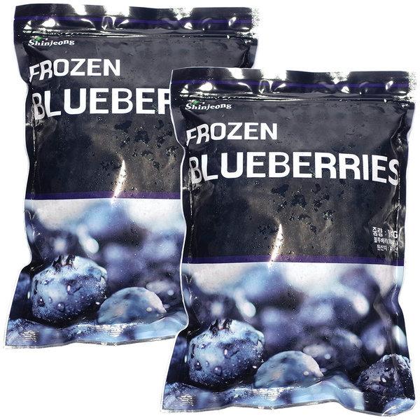 프리미엄 냉동 블루베리 2팩 1kg+1kg A급 스무디용 상품이미지