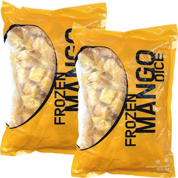 프리미엄 냉동 망고 2팩 1kg+1kg 망고빙수 스무디용 상품이미지