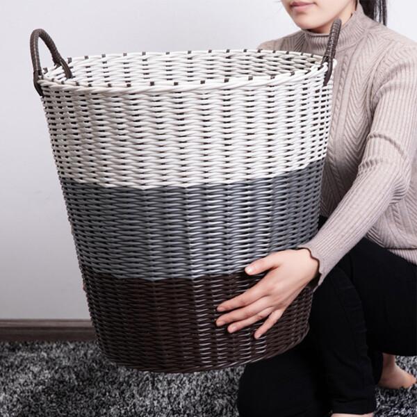 바스켓 통 바구니 빨래통 분리 수거함 다용도 세탁 상품이미지