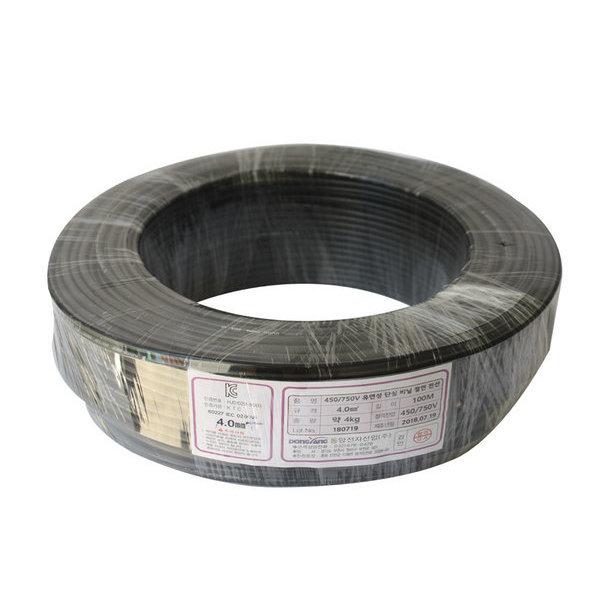 동양전자 KIV 4.0mm 전선 흑색 100M/ 케이블 / 배선 / 상품이미지