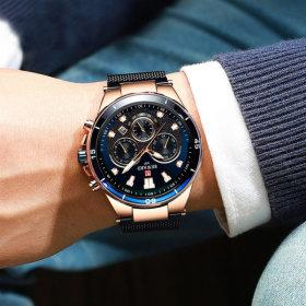 남자 손목 시계 남성 메쉬 명품 패션 방수 REWARD 2003