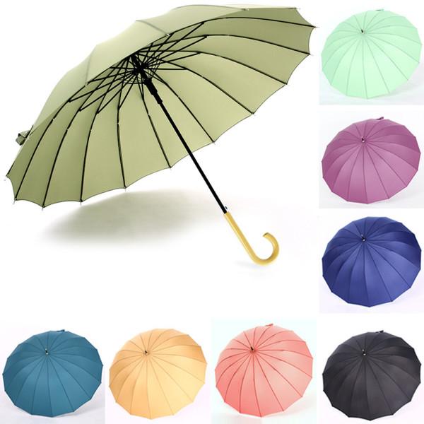 레트로 복고풍 장우산 여성 남자 우산 양산 자동우산 상품이미지