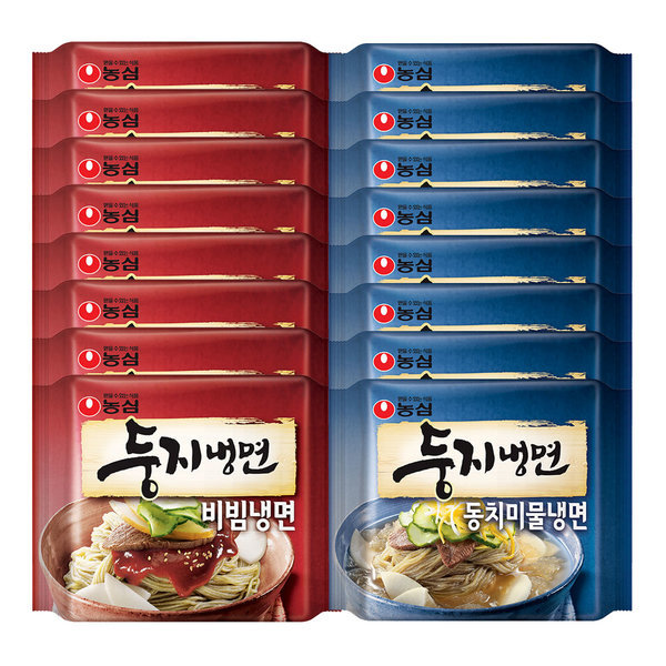 농심 둥지냉면 비빔냉면8봉+동치미8봉(총16개) 상품이미지