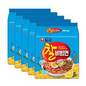 농심 찰비빔면 4입멀티 5봉 (총20개)