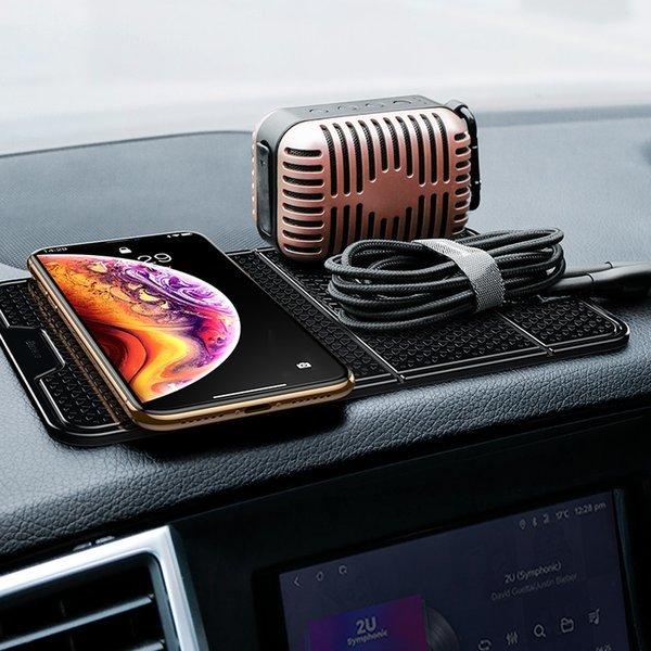 차량용 휴대폰 거치대/논슬립 패드 블랙/흡착형 상품이미지