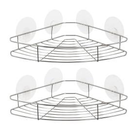 타이탄 매직 후크 코너 선반 1단 2개 /스텐 욕실