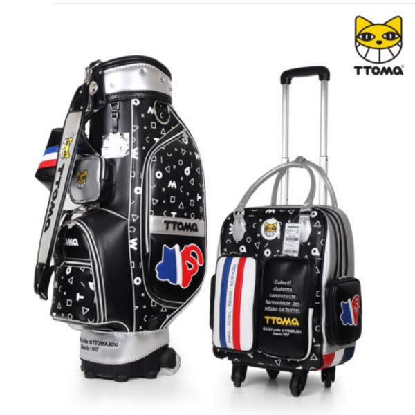 프랑스 또마 휠 골프캐디백세트 TMCB/BB-1223 블랙 상품이미지