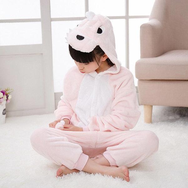 핑크공룡 극세사 캐릭터동물잠옷 아동잠옷 수면잠옷 상품이미지