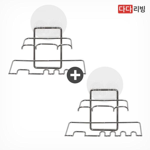 타이탄 매직 후크 칫솔 걸이 2개 /스텐 욕실 꽂이 상품이미지