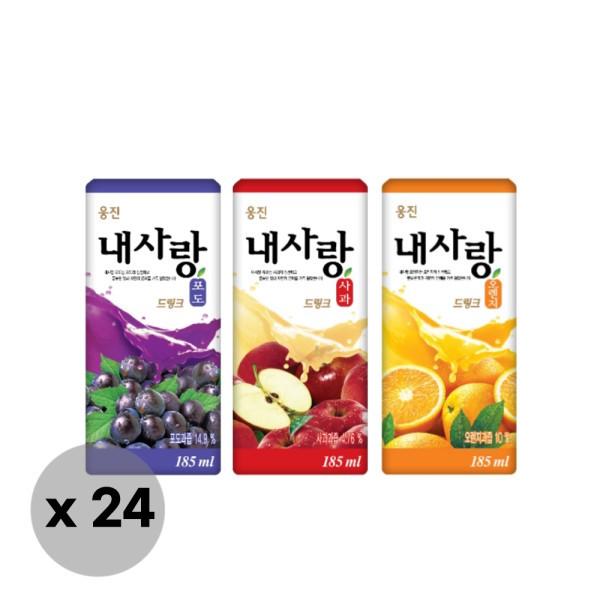 웅진식품  웅진 내사랑 드링크팩 오렌지/포도/사과 주스(185ml 24팩) 상품이미지