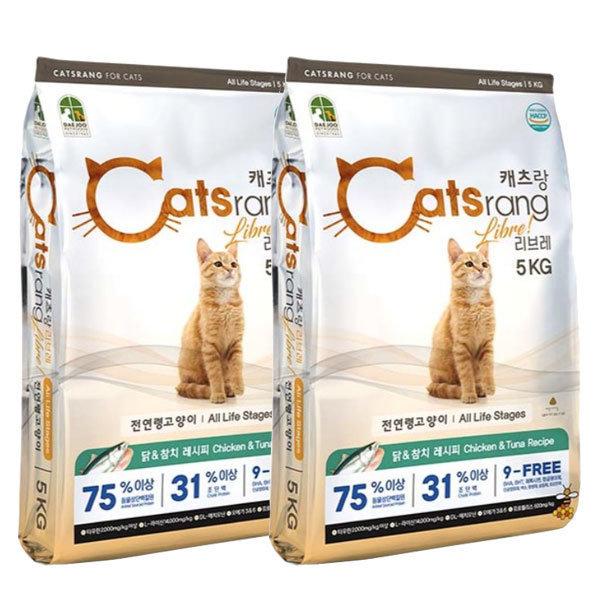 캣츠랑 5kg x 2개 10kg 고양이사료 NEW 캐츠랑 상품이미지