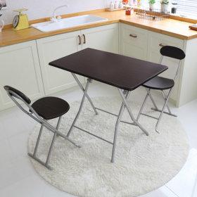 접이식 2인 식탁 의자세트 간이보조 티테이블 사이드