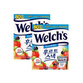 웰치 후르트스낵 믹스드후르트 80입 2박스